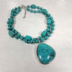 Premier Designs Cabo Faux Turquoise Necklace